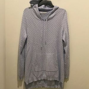 Maurices tunic hooded sweater top, size 0, NWOT